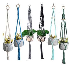 Bahçe Çiçek Hanger için Ev Dekorasyon Renkli makrome Bitki Askı Bitki Askı Dikim Sepeti Asma