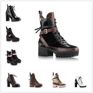 2021 Хорошее качество Женщины Designrs Martin Desert Boots Flamingos Love Real 100% Кожаная грубая зимняя повседневная обувь стрелка медаль Size35-42 #