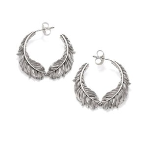 new pure feather earrings, European fashion simple atmospheric Earrings Jewelry romantic earrings for men and women046a#