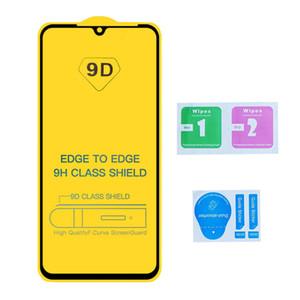9D Edge to Edge Cobertura de cubierta completa Vidrio templado para iPhone 12 11 Pro MAX XS XR X 6 7 8 PLUS SAMSUND A11 A21 A51 A71 LG K51S K61S MOTO G9