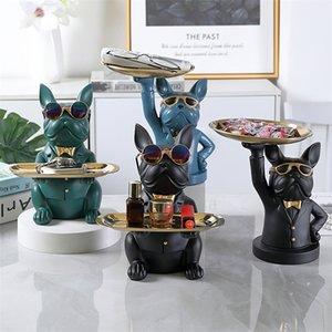 Ev odası dekor, heykelcik, serin bulldog, heykel, masa dekorasyonu, modern, çok işlevli, masa depolama, heykel, dekoratif, madeni para bankası 201210