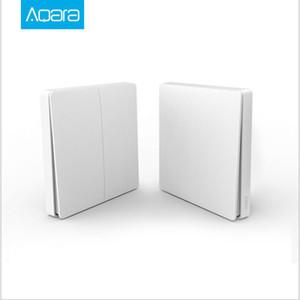 Aqara Зеленый Райс D1 умный настенный выключатель один ключ двойной ключ дистанционного управления беспроводной пульт дистанционного управления переключатель Homekit