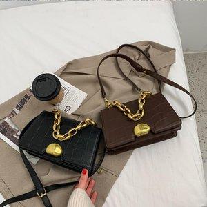 Diseño Sense Bag Handbag New Trendy Retro All-Match Messenger Bag Net Celebrity Explosion Cadena pequeña Plaza