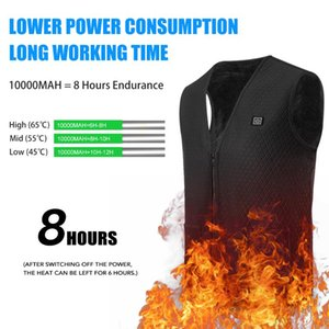 Lixada Heated Vest USB Electric Heating Vest Winter Jacket Waistcoat Heated Clothing for Men and Women
