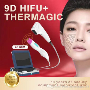 new typeslimming arrival 2 in 1 9D Hifu body slimming thermagic RF skin tightening beauty machine for face care 8 cartidges10000 shots