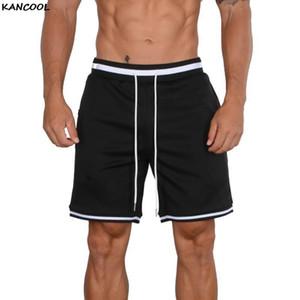 Kancool 2021 shorts de verão homens moda respirável masculino casual shorts confortável plus tamanho fitness muss muscsbuilding
