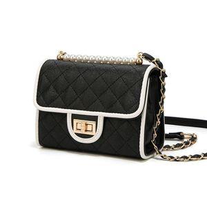 Senior Feel Luxury Bag Western Style Oblique Satchel 2019 Summer Texture Small Black Package Joker Chain Package Temperament Goddess Tide