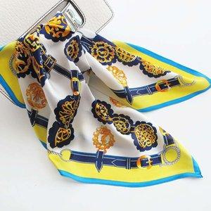 Шарфы, женские шелковые напечатанные маленькие квадратные шарф ленты