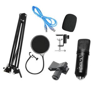MOOL -F400 USB Microphone Set di riduzione del rumore del volume regolabile per Computer Voice Chat Recording / Streaming live broadcast