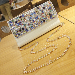Colorful Rhinestones Evening Diamonds Shoulder Bags Clutches Evening Purse Wedding Day Clutch Evening Bags for Party Bag .