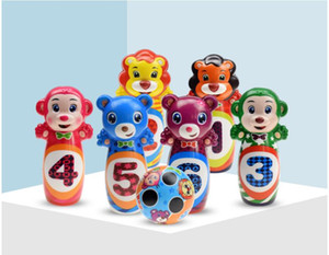 1 Set Bowling Pins And Balls Fun Safe PU Educational Toy For Kids Toddlers Children Outdoor Or Indoor Toy Sports#podd
