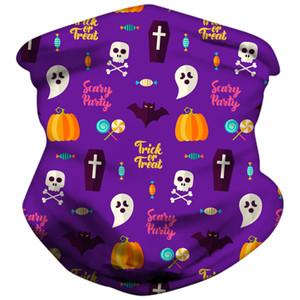 Halloween Children Face Mask Kids Protective Mask Outdoor Cycling Magic Scarf Bandana Headband Bandanas Turban Party Masks EWF3414