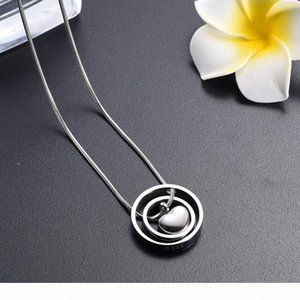 IJD9954 Silver Round Circle Funeral Son Forever in My Heart Ashes Memorial Cremation Urn Pendant for Keepsake Jewelry