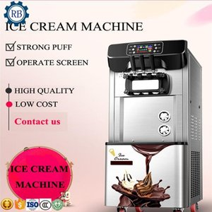 Dondurma makinesi makine gökkuşağı 2100 W 24L otomatik 3 lezzet yumuşak makine1
