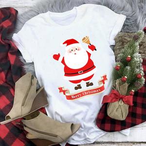 Merry Christmas Letters T shirt Women Santa Claus Print Tshirt Female Short Sleeve Tee Shirt Unisex Casual Tops