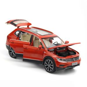 Toy 1/32 Modelo Tiguan Veículos L Simulação Alloy Pull Back Brinquedos Genuíno Licença Gift Collection Off-Road Vehicle Crianças