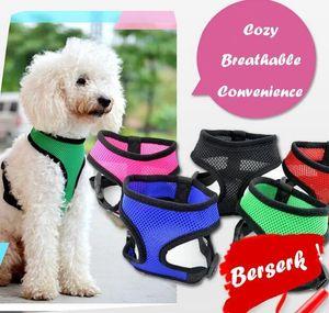 Cw002 Fashion Dog Vest Soft Air Nylon Mesh Pet Harness Dog Clothes Dog Harness Clothes wmthXO dh_garden