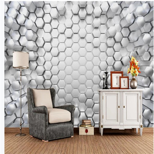 3D Abstract Geometric wallpapers Stereo Graphic Background Wall Mural 3d murals wallpaper for living room