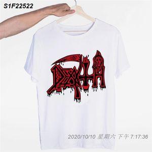 Death Rock Heavy Metal Band-T-Shirt tailliert Comical Kleidung Einzigartige Kurzärmlig Hip Hop Männer und Frauen-T-Shirt 10111310