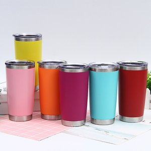 new 12 colors 20oz car Stainless Steel Tumbler Insulated Coffee Mug Thermal Cup With Seal Lids Vacuum home Drinkware T2I51686