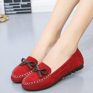 Women Loafers Winter Warm Plush Soft Shoes Comfortable Non-slip Ladies Flats Bow-tie Moccasins Casual Walking Mom Shoes 2020 New