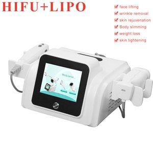 macchina liposonic grasso liposonic dispositivo più sottile del corpo di fusione 2 maniglie HIFU pelle sollevamento perdita di peso liposonic dimagrimento trasporto libero