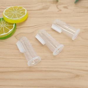1pc denti morbido spazzolino in gomma con scatola di barretta del silicone massaggiatore di spazzolino da denti per il bambino infantile che pulisce lo spazzolino da denti dell'ingrosso GWF4561