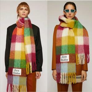 Sacmf العلامة التجارية الكشمير الشتاء وشاح الأوشحة مصمم حب الشباب بطانية الأوشحة النساء نوع اللون متقلب شرابة تقليد 201103