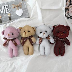 12.5cm Teddy Bear Plush Toys Key Chain Pendant Plush Doll Stuffed Animals Teddy Bear Keychain Soft Plush Toy Kids Child Gifts Wholesale