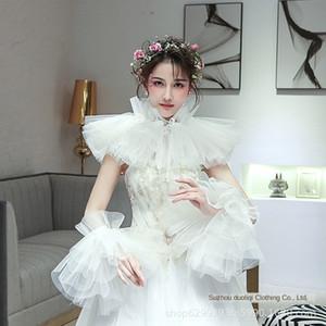 dress cover photo shoulder gauze photo studio shawl style wedding bride accessories wedding shawl Jewelry arm 56rkc