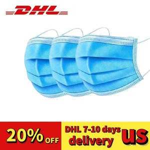 DHL free shop 48 hours 50pc disposable Thick 3-Layer face masks face masks dust-proof masque jetable Large quantity can be customized