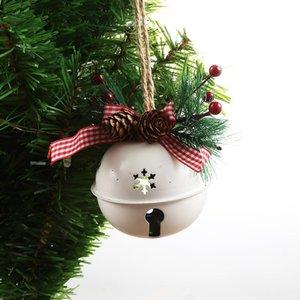 Рождество Jingle кованого железа Большой колокол украшения кулон Рождество Белл Подвеска Рождественские украшения Новый год партии Детские игрушки W-00404