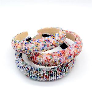 2020 Full Colorful Crystal Headband for Woman Luxury Shiny Rhinestone Paded Hair Band Bridal Wedding Hair Accessory