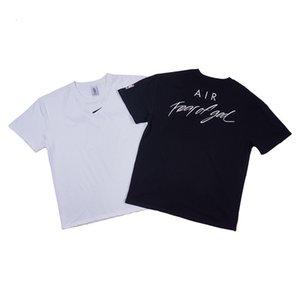 Hot Beauty maré FOG conjunta de manga curta FEAR OF GOD Air Limited esportes de alto basquete de rua T-shirt para homens e mulheres