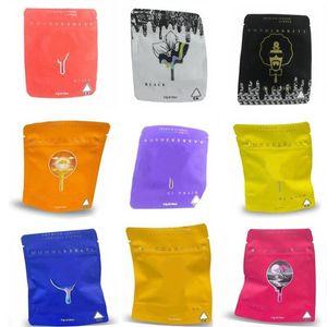 Smell Proof Wonderbrett Bag 3.5g Gummies Zipper Pouch 9 Styles Tobacco Dry Herb Vape Baggies Edibles Bags