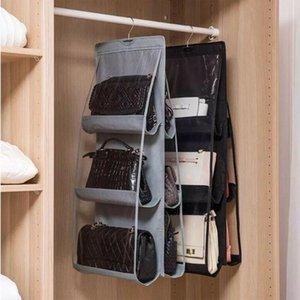 8 Door Pockets Set Purse Toy Closet Handbag Organizer Clear Foldable Bags Hanging Storage Cosmetic Organizer Pouch Useful Bag Kuxra