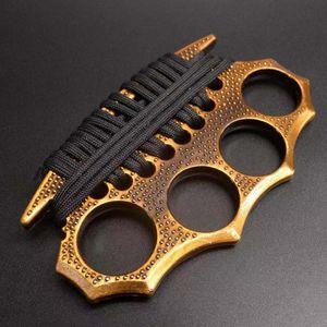 Four Finger Tiger Self Defensition Arma Tiger Ring Boxer Chiusura Clip Brace Ring Defense Attrezzature di difesa32