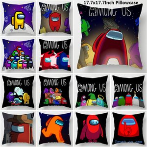 22Colors Cartoon among us Pillowcases Pillow Case 45*45cm New among us Pillowcase Thanksgiving Day Gifts Christmas Decoration Free DHL