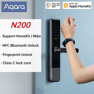 AQARA N200 LOCK SMART SMART DOOR LOCK Empreinte 3D Mot de passe NFC Déverrouiller la classe C Serrure mécanique avec SoignyBell Support Mijia Apple Homekit 201013