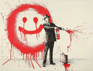 MR. BRAINWASH SPRAY HAPPINESS (RED) Home Decor Handpainted &HD Print Oil Painting On Canvas Wall Art Canvas Pictures 201026