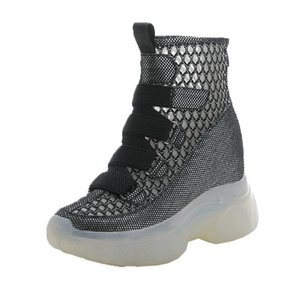 Spring and Autumn 2020 new summer breathable thin section increased women's shoes mesh boots hollow sandals women