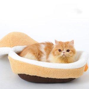 WHPC Pet Cat Kennel Chiot Cave Cave dormir hiver Chauffer le lit petite maison pour les chats Produits Y200330