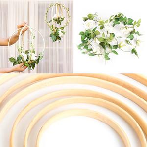 1Pc Wooden Hoops flower vine decor home Iron Rattan wreath Wedding decoration Floral garland Dream catcher hoop Baby shower 40cm