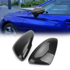 Areyourshop Car Carbon Fiber Style Rear View Side Mirror Trim Cover Fit For Honda Accord 2018-2019 Car Auto Accessories Parts