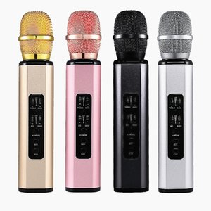 Wireless Microphone Speaker Recording Karaoke Condenser Microphone Speaker studio Sound Wireless Bluetooth Microphones