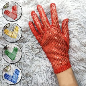 Shining Sequined Hand Gloves Evening Party Costume Mittens Stretch Dancer Singer Nightclub Dance Stage Show Accessories 2020