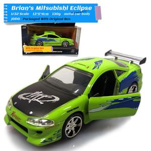 JADA 1/32 Escala Juguetes 1995 Mitsubishi Eclipse Diecast Metal Modelo del coche regalo para el juguete, niños, Colección