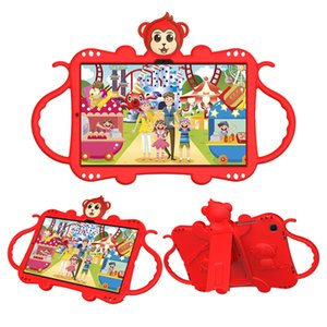 Kids Handle Stand iPad case with shoulder straps monkey shaped Soft Shockproof Tablet Case For iPadPro9.7 iPadAir iPad5 iPad7th