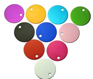 round shape pet id tag 2 sided can custom engraved dog tag pet name phone number charm personalized by yourself id card