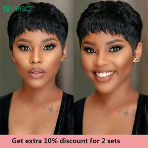Virgo Pixie Cut Wig Natural Curls Short Wigs Peruvian Wig Natural Color 150% Density Human Hair Wigs For Black Women Remy